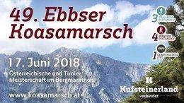 Jetzt anmelden Ebbser Koasamarsch 2018