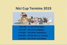 NICI CUP TERMINE 2019